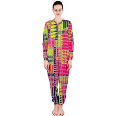 Abstract Pattern OnePiece Jumpsuit (Ladies)