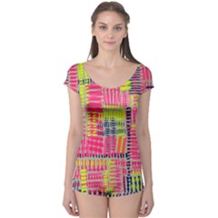 Abstract Pattern Boyleg Leotard