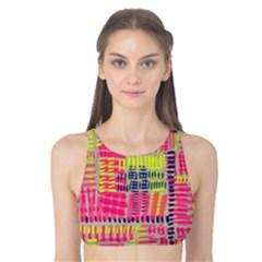 Abstract Pattern Tank Bikini Top