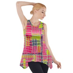Abstract Pattern Side Drop Tank Tunic