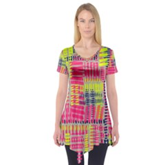 Abstract Pattern Short Sleeve Tunic