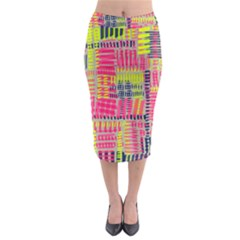 Abstract Pattern Midi Pencil Skirt