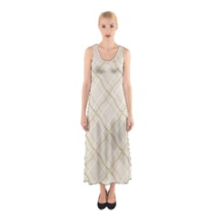 Background Pattern Sleeveless Maxi Dress