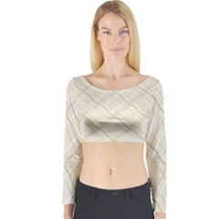 Background Pattern Long Sleeve Crop Top