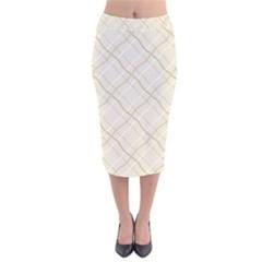 Background Pattern Velvet Midi Pencil Skirt