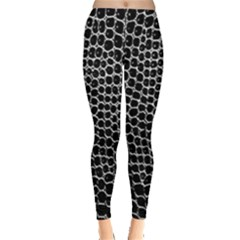 Black White Crocodile Background Leggings