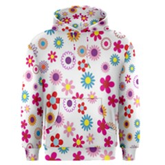Colorful Floral Flowers Pattern Men s Pullover Hoodie