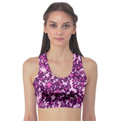 Chic Camouflage Colorful Background Sports Bra