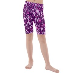 Chic Camouflage Colorful Background Kids  Mid Length Swim Shorts