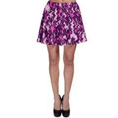 Chic Camouflage Colorful Background Skater Skirt