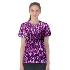Chic Camouflage Colorful Background Women s Sport Mesh Tee