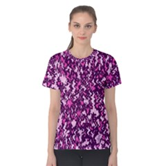 Chic Camouflage Colorful Background Women s Cotton Tee