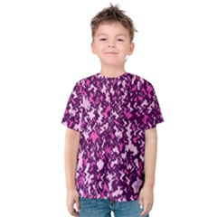 Chic Camouflage Colorful Background Kids  Cotton Tee
