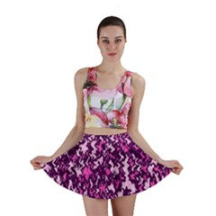 Chic Camouflage Colorful Background Mini Skirt
