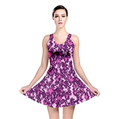 Chic Camouflage Colorful Background Reversible Skater Dress