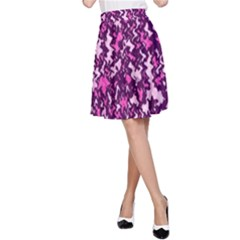 Chic Camouflage Colorful Background A Line Skirt