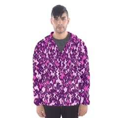 Chic Camouflage Colorful Background Hooded Wind Breaker (men)
