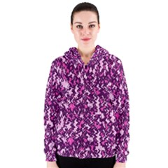Chic Camouflage Colorful Background Women s Zipper Hoodie