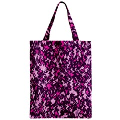 Chic Camouflage Colorful Background Zipper Classic Tote Bag