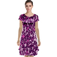 Chic Camouflage Colorful Background Cap Sleeve Nightdress