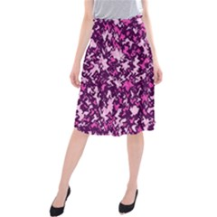 Chic Camouflage Colorful Background Midi Beach Skirt