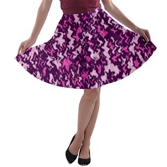 Chic Camouflage Colorful Background A-line Skater Skirt