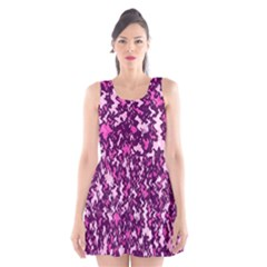 Chic Camouflage Colorful Background Scoop Neck Skater Dress