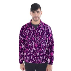 Chic Camouflage Colorful Background Wind Breaker (men)