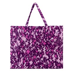 Chic Camouflage Colorful Background Zipper Large Tote Bag