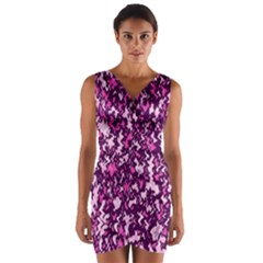 Chic Camouflage Colorful Background Wrap Front Bodycon Dress