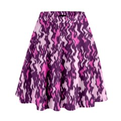 Chic Camouflage Colorful Background High Waist Skirt