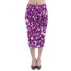 Chic Camouflage Colorful Background Midi Pencil Skirt