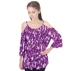 Chic Camouflage Colorful Background Flutter Tees