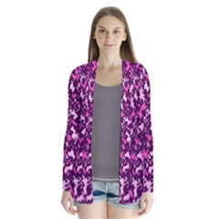 Chic Camouflage Colorful Background Cardigans