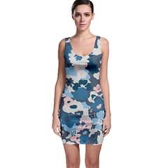 Fabric Wildflower Bluebird Sleeveless Bodycon Dress