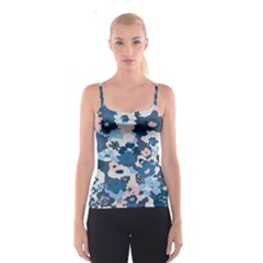 Fabric Wildflower Bluebird Spaghetti Strap Top