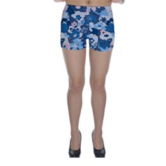 Fabric Wildflower Bluebird Skinny Shorts