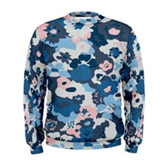 Fabric Wildflower Bluebird Men s Sweatshirt