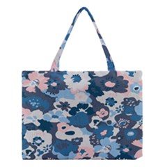Fabric Wildflower Bluebird Medium Tote Bag
