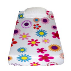 Colorful Floral Flowers Pattern Fitted Sheet (single Size)