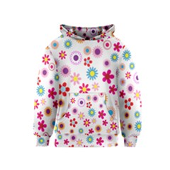 Colorful Floral Flowers Pattern Kids  Pullover Hoodie