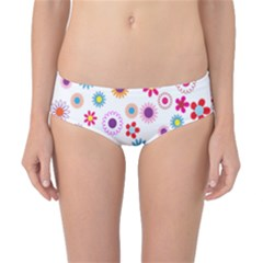 Colorful Floral Flowers Pattern Classic Bikini Bottoms