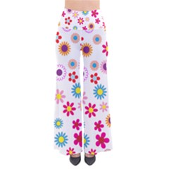 Colorful Floral Flowers Pattern Pants