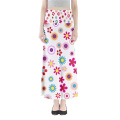 Colorful Floral Flowers Pattern Maxi Skirts