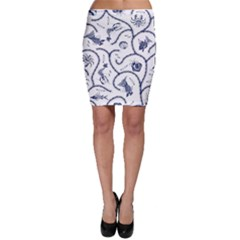 Fish Pattern Bodycon Skirt