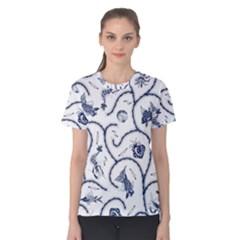 Fish Pattern Women s Cotton Tee