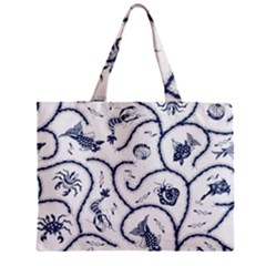 Fish Pattern Zipper Mini Tote Bag