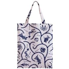 Fish Pattern Zipper Classic Tote Bag