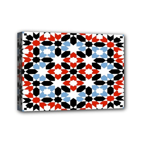 Morrocan Fez Pattern Arabic Geometrical Mini Canvas 7  x 5