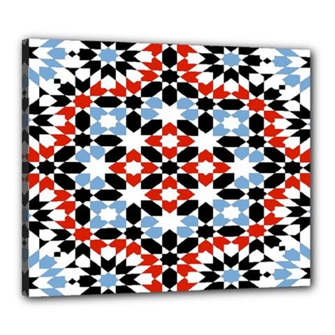 Morrocan Fez Pattern Arabic Geometrical Canvas 24  X 20